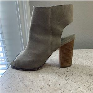 High suede heels